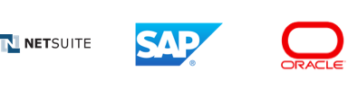 NetSuite, SAP and Oracle logos